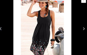 Sweet Casual Sleeveless Women Summer Boho Short Midi Dress Cocktail Party Beach Sundress New Drop Shipping