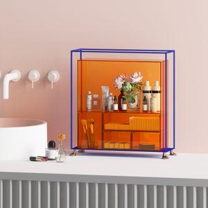 Acryl-Desktop-Kosmetik-Aufbewahrungsbox-Schmutz-Tisch-Schubladen-Typ Mehrschichtig-Regal staubdicht