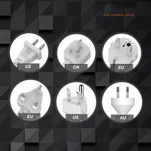 Evrensel Güç Şerit Soket Taşınabilir Şerit Fiş Adaptörü 6 USB Bağlantı Noktası ABD / İNGILTERE / AB Çok Fonksiyonlu Akıllı Ev Elektroniği EEF3559