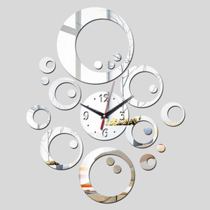 2020 promotion hot sale quartz watch wall clock modern home decoration diy antique acrylic mirror Wall Stickers free shipping