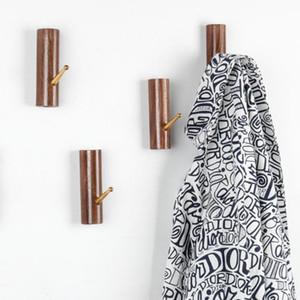 4 개 원통형 행거 침실 쉬운 설치 의류 코트 후크 벽은 호텔 단단한 나무 욕실 현대 수건 주방 홈 탑재