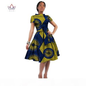 WholeSale Africa Dress For Women African Wax Print Dresses Dashiki Plus Size Africa Style Clothing for Women Office Dress WY082