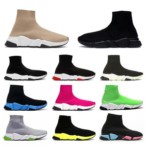 Neue Mode 2021 Paris Speed Trainer Strick Socke Schuh Original Herren Womens Schwarz Weiß Rot Strick Turnschuhe Günstige beste Freizeitschuhe