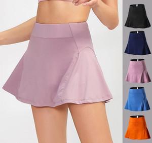 Gym Clothes Women Sports Quick Drying Yoga Skirt Tennis Dance Yoga Training Skirt Anti Light Fitness Running Lined Short Skirt Yoga Pants