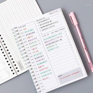 Kawaii Agenda Cuaderno 365 Diario semanal Mensual Anual Calendario Planificador de calendario Horario Organizador Diario Libros Escuela A5 Gift1