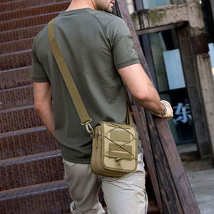 Outdoor Tactical Messenger Bag Shoulder Nylon Fishing Camping Travelling Gear Multi-function Waist Utility Pouch