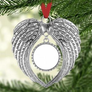 Sublimação Blanks Angel Decorações de Natal Decorações de Natal Anjo Wings em branco Adicionar sua própria imagem e fundo CCF3473