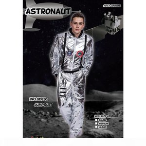 Men Astronaut Cosplay Suits Space Halloween Clothing Women Costumes Party Clothes