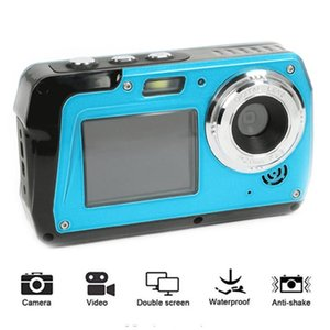 YENI 48MP Sualtı Kamera HD 1080 P Çift Ekran Video Kamera 16x Dijital Zoom Point Sürgünler Spor Su Geçirmez Dijital Kamera