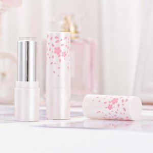 Cute Beautiful Pink Flowers Decoration Handmade Empty Lipstick Tubes Containers Cosmetic empty lip tubes containers