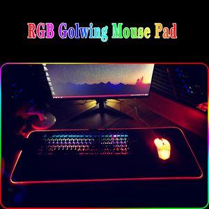 Gaming Mauspad RGB LED glühende bunte große Gamer Mousepad Tastatur Pad Rutschfeste Schreibtisch Mäuse Matte 7 Farben für PC Laptop
