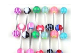 Mixed Color Acrylic Tongue Stud Ring For Women Candy Color Piercing Tongue Piercing Ring Studs Barbell bbyejr nana_shop