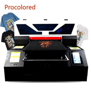 Procolored 2021 Textile DTG Printers A3 Print Size for T Shirt Clothes Jeans Tshirt Printing Machine Garment A4 Flatbed Printer