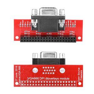 Raspberry PI 3 / PI 2 / B + / A + 10 용 Universial Gert-VGA VGA666 모듈 어댑터