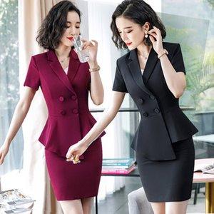 Профессиональная женщина Xia Chunqiu Новый модный темперамент Оль-Богиня Малый костюм Платье Косметолог