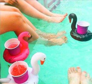 Copa Colores Swan Inflatable Titular Natación 3 Piscina Flotador Baño Piscina Bebida Titular Toy Fiesta Decoración Bar Posavasos