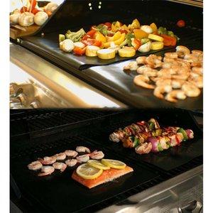 Tapis de grill de barbecue antiadhésive Durable 33 * 40cm Grillades barbecue Mateau de barbecue réutilisable sans bâton BBQ grill Tapis de pique-nique outil de cuisson de pique-nique GWF3635