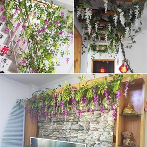 New Artificial Plant Vines Wall Hanging Simulation Rattan Leaves Branches Green Plant Ivy Leaf Home Wedding Decoration