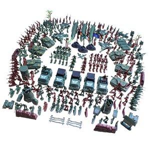 307 pièces armée hommes playset 4cm soldat action chiffres avec réservoirs planes drapeaux Plus d'accessoires de base de base de l'armée jouet 201202