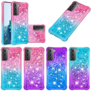 Quicksand TPU Liquid Gradient Glitter Case For Samsung S21 Plus Ultra A52 A72 5G M31 M51 XiaoMi Poco X3 10T Note 10 Lite Huawei P Smart 2021