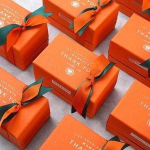 New Gift Halloween Gift Perfume Bag Birthday Paper Box Packaging Box Wedding Cosmetics Party Orange Wallet Bvsto