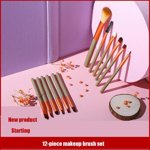 12Pcs Makeup Brushes Set Powder Foundation Eyeshadow Make Up Brushes Women Eye Cosmetic Tools pinceaux maquillage