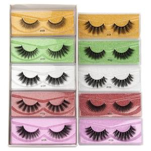 3D Mink Eyelashes Wholesale 10 styles 3d Mink Lashes Natural Thick Fake Eyelashes Makeup False Lashes Extension Sets and In Bulk