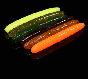 20 pçs / saco de pesca sem-fim isca macia isca de swimbait 1.6g / 50mm plástico fake salva-vidas Walleye Bass Pesca artificial para wacky gabarito