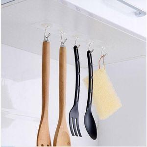 Hanger Hook Transparent Strong Self Adhesive Door Wall Hangers Hooks Suction Heavy Load Rack Cup Sucker for Bathroom