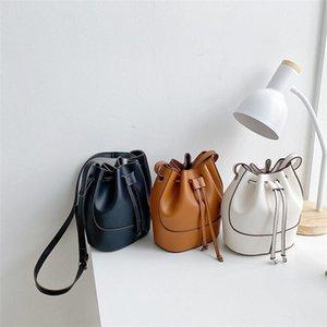 European and American New Bag Women's Bag 2020 Fashion Trend Women's Single Shoulder Messenger Pu Large Capacity Bucket