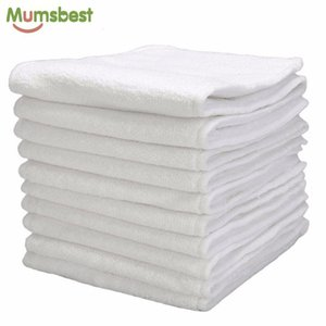 [MumsBest] 10 pcs lavável fraldas de pano de bebê reutilizável fraldas inserções de fraldas microfibra 3 camadas lj201023
