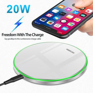 20W Qi Wireless Charger For Xiaomi Mi 9 Pro Mirror Wireless Charging Pad Fast Charger For iPhone 11 X XS Max XR 8 Plus