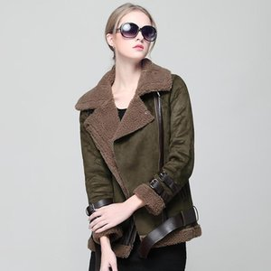2020 Winter Faux Suede Jacket Leather Jacket Women Biker Faux Leather Motorcycle Warm Shearling Plus Size Female Coat