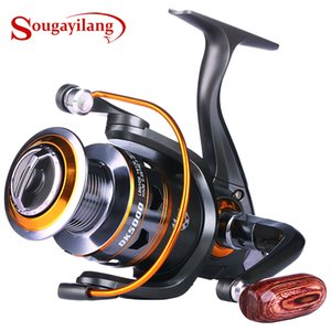 SOUGAYILANG DK1000-DK6000 Reel de pesca de hilado 11 BB Reel rentable 12kg MAX Max Drag Power Fishing Tack Pesca Gear Q1123