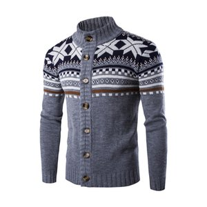 Europe and America Mens Cardigan Sweaters Fashion Long Sleeved Single Breasted Man Sweaters Casual Male Clothing