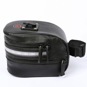 Bicycle Bag With Light Reflective New High Quality Anti-Collision Belt Cycling Bag Seat Bicycle Saddle Back Seat M1
