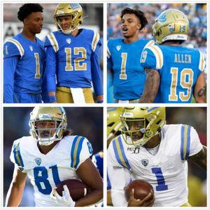 Benutzerdefinierte UCLA Bruins Dorian Thompson-Robinson Joshua Kelley 3 Wilton Speight Caleb Wilson Troy Aikman Football College Jersey
