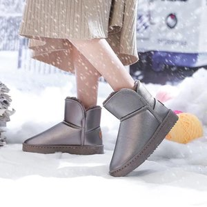 Women Snow Boots Warm Winter Boots Flat Bottom Women's Artificial Plush Shoes for Women Winter
