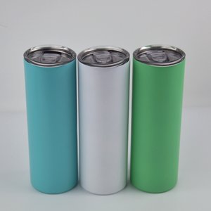NEW!20oz Sublimation luminous-paint straight tumbler glowing in the dark stainless steel water bottles coffee mugs double insulated cups A13