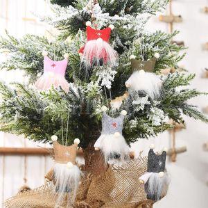 Двойная шаровая шапка безликая кукла висит кусок рождественские творческие кукла висит орнамент старый дерево кулон рождественский орнамент DB226
