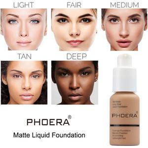 Top Seller Brand Face Makeup Primer PHOERA Matte Oil-control Liquid Foundation 10Colors Concealer Soft Matte Long Wear Concealer Foundation