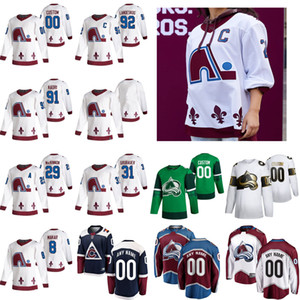 2021 Обратный ретро Колорадо Лавина Джерси Дункан Siemens Tyson jost Nail Yakupov Mark Barberio Joonas Donskoi Hockey Jersey Custom