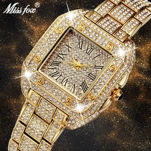 MISSFOX Unique Womens Watches Top Brand Luxury With Rhinestone Cheap China Watches Switzerland Shockproof Waterproof Watch 201119