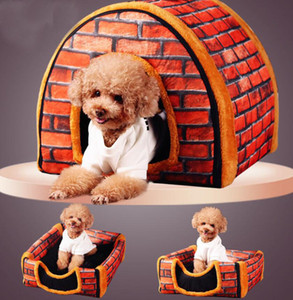 15 styles Patterns Leather Pet Kennels High Grade Personality Soft Bulldog Bed Indoor Outdoor Casual Kennel for Schnauzer