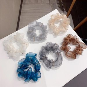 French Retro Women Hair Bands Scrunchie Hair Accessories Rubber Elastic for Tie Bezel Girls Yarn Alloy Circle Headbands