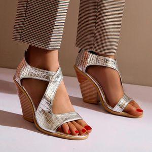 SAGACE shoes woman summer Fashion Solid Flat Open Toe Wedges Thick Bottom Rear Zipper Roman Sandals shoes woman sandals2020Feb26