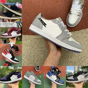 Air Jordan 1 retro jordans  Nike  2021 New Game Royal 1 Chaussures de basket-ball pour hommes Low Court Violet Blanc Rouge Shadow Glow Bred Gris Noir Toe Designers 1s