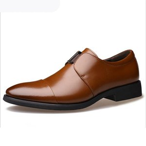 Italian Men's Oxford Dress Shoes Luxury Formal Pointy Wedding Groom Shoes work slip-on Elegant Men Fashion Party flats