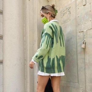 Stripas de moda suéteres mujeres de gran tamaño y2k invierno punto cálido jerseys femenino saltadores largos streetwear Flow Outerwear 2020