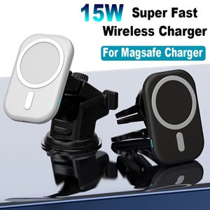 15W Magnetic Wireless Car Charger Mount Stand for iPhone 12 Pro Mini Max Magsafe Fast Charging Wireless Charger Car Phone Holder
